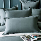 New Pair of 100% cotton Waffle Standard Pillowcases slips 48x73cm+5cm Grey Green