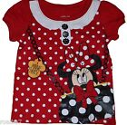 Licensed Disney Toddler Girls T Shirt Minnie Mouse Holding Purse Red Polka Dot