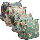 Ladies Oilcloth Floral Cross Body Messenger Bag Women Shoulder Tote Satchel Hand