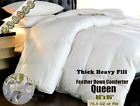 100% Goose Feather Down Comforter 95/5 Heavy Fill & Oversized Bedding Queen King