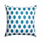 Teal Dot Throw Pillow, Jojo Aquarius and White Retro Decorative Throw Pillow