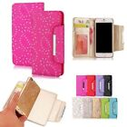 Luxury Glitter Magnetic Removable Detachable Wallet Card Slot Case for Phones