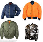 MA1 FLIGHT JACKET REVERSIBLE MILITARY AIRFORCE PILOT BOMBER IN DIFFERENT COLOURS