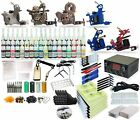 Complete Tattoo Kit 6 machine Gun 54 Color Inks Power Supply TK-33