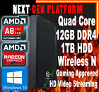 AMD A8 Quad Core 16GB 1TB R7 Custom Desktop Computer System Gaming PC Windows 10