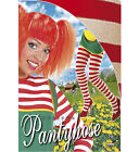 70 DENIER RED & WHITE STRIPED TIGHTS FANCY DRESS CHRISTMAS - 2 SIZES AVAILABLE