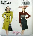 Butterick Sewing Pattern 6286 Retro 40s Ladies Suit Skirt Jacket Pick Size