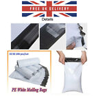 Self Seal Strong PE White Mailing Bags Postal Sacks Envelopes *ALL SIZES/QTY'S*