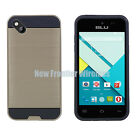 For BLU Advance 4.0L/4.0L2 Tough Armor Shock Resistence Case + Screen Protector