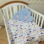 Baby Nursery Cotton Fitted Sheet All Sizes Crib Cot Bed Matching Bedding Pattern