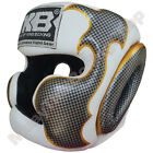 Top King Boxing Muay Thai Head Guard Protection TKHGEM-01 White Size M-L.