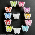 5 - Novelty Buttons - small Butterfly - 12mm x 15mm - Kids - Knitting/Sewing