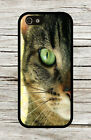GREEN EYES CAT GLANCE CLOSE UP CASE FOR iPHONE 4 5 5C 6 -sdx8Z