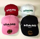 ADAMS NEW ERA 59/50 FITTED GOLF HAT/CAP SUPER S LOGO -PICK COLOR & SIZE
