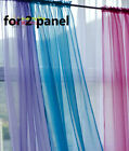 2 x Solid Pink Blue Green White Yellow Purple 20 Color Sheer Voile Curtain Panel