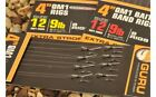 "NEW GURU QM1 READY TIED BAYONET HOOK RIGS 4"" AND 15"" BARBLESS SIZE 10,12,14,16"