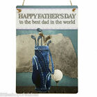 Fathers Day Gifts Plaque sign for her vintage chic present Best Dad Golf