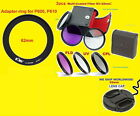 RING ADAPTER+FILTER KIT+LENS CAP To CAMERA NIKON COOLPIX P610 P600 B700 62mm