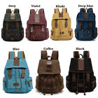 AUGUR Mochila Solid Casual Vintage Canvas Satchel Travel Backpack School Bag New