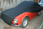 TRIUMPH TR4 Car Cover Indoor Stretch Fibre Ultra Soft NAVY BLUE Breathable
