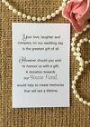 Wedding Gift Money Poem Small Cards Asking Money Cash New Home For Invitations