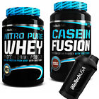 BioTech USA Nitro Pure Whey 908g + Casein Fusion 908g + Shaker Free Day + Night