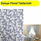 """Daisys Floral Table Cloth Cream Natural Blue Floral 54""""x54"""" Or 54"""" x 68"""" Oblong"""