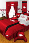 Arkansas Razorbacks Comforter Bedskirt Sham Curtains Vala...