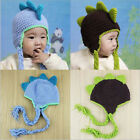 Newborn baby Woolen Crochet Four Corners Dinosaur Hat Kid Photography Props