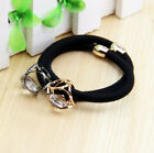 2/10Pcs Girl's Crystal Hair Ring Rope Elasticity Rubber Band Ponytail Holders