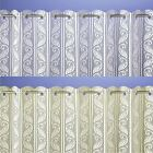 Lace Pleated Vertical Louvre Blind Window Net White or Cream