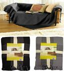 Maurice Checked Bed Chair Sofa Settee Cotton Throw Blanket With Tassels