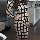 Sexy Women Bodycon Evening Cocktail Party Long Sleeve Slim Pencil Dress Fashion