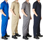 Mens NWT SS Coverall Overall Boilersuit Mechanic, Protective Work Wear
