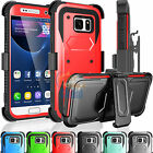 Belt Clip Holster Hybrid Rubber Hard Case Cover Shell for Samsung Galaxy S7 VII