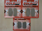 SUZUKI SV 1000 (2005-2006) SV1000 > FULL SET SINTERED HH BRAKE PADS *GOLDFREN*