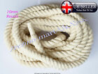 10mm 100%Pure Natural Cotton Rope 3Strand Braided Twisted Craft Cord Sash Twine