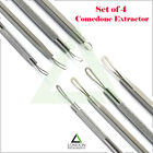 4x Comedone Extractor Whitehead Remover Blackhead Remover Acne Blemish Skin Tool