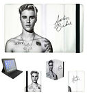 Justin Bieber Autograph Apple iPad 2 3 4 Mini Air Flip Folding Case Cover