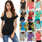 Women Summer Sexy Off The Shoulder Short Sleeve T-Shirt Ladies Casual Top Blouse