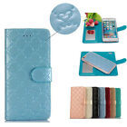 Fashion 2in1 Detachable Magnetic Folio Leather Mirror Wallet Case For iPhone