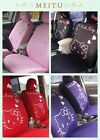 Hot 10 Pcs Universal Hello Kitty Car Seat Covers Front Rear Cover Accessory Sets