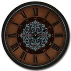 Seawood Harbor LARGE WALL CLOCK 10- 48 Whisper Quiet Non-Ticking WOOD HANDMADE