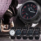 Black Watches Analog Wirst Watch Men's Quartz Fashion Stainless Steel Back