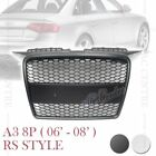RS3 HONEYCOMB STYLE FRONT HOOD MESH GRILLE for AUDI A3 S3 8P 06-08 2 VERSIONS