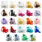 """PACK 10 Organza Wedding Favour Gift Pouches Bags 3x4"""" 4x5"""" Best Top Quality"""