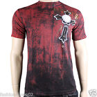 Affliction Prophet A8067 Men's T-shirt Tee Black & Red