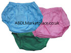 Adult Baby Plastic Pants, Blue, Pink, Green Nappy Diaper Cover Abdl Size S M L