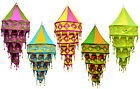 5pcs-25pcs Indian Cotton 4 Layer Lampshade with Mirror Work Wholesale Lot