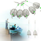 5x Stainless Steel Wire Fishing Lure Cage Fish Bait Trap Basket Tackle Cage New